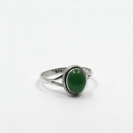 inel de argint cu jad nefrit