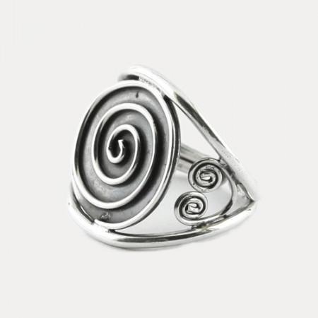 inel de argint simbol spirala indian
