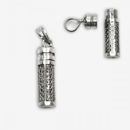 Pandantiv de argint stil recipient secret