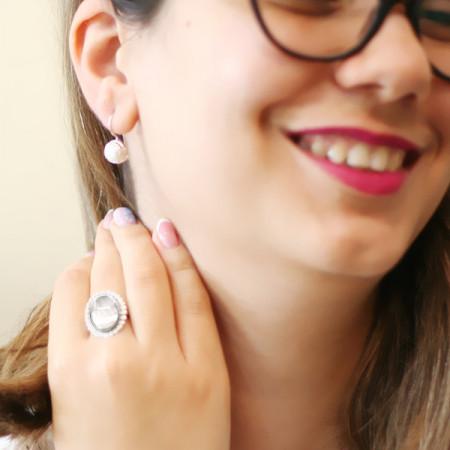 Cercei argint cu perle