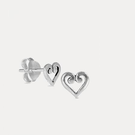 Cercei de argint Heart