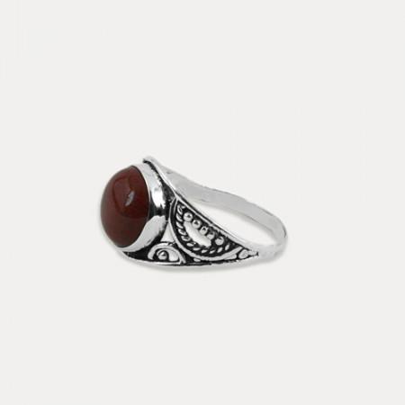 Inel de argint cu jasp rosu Hayati