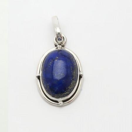 pandantiv de argint cu lapis lazuli, oval