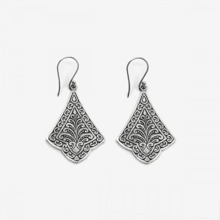 Cercei de argint ajurat Bali