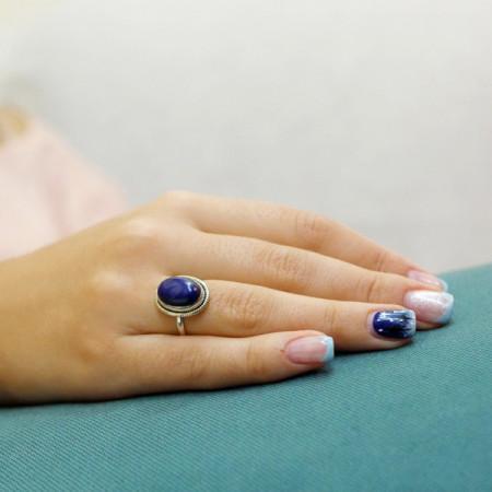 inel argint lapis lazuli