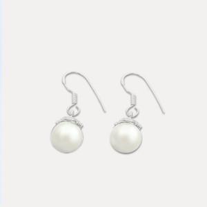 Cercei de argint cu perla Filotima