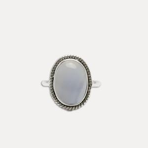 Inel de argint cu agata blue lace Achat
