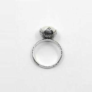 Inel argint cu perlă Bali