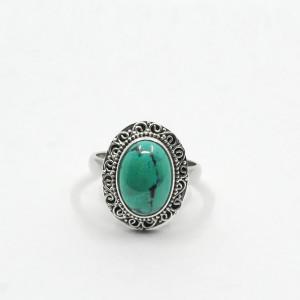 Inel de argint cu turcoaz Asala (#1)