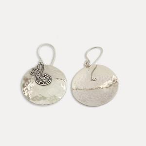 cercei argint cu filigran Bali