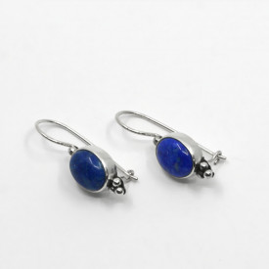 Cercei de argint cu lapis lazuli Magret