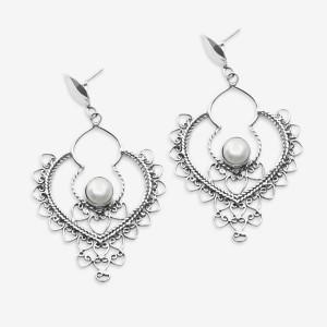 Cercei de argint cu perlă Alid