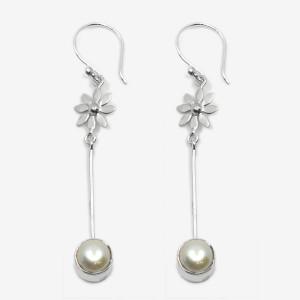 Cercei de argint cu perle Haya