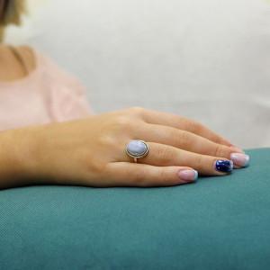 inel argint agata blue lace