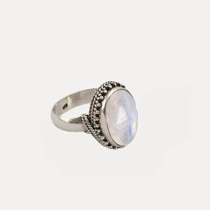 Inel de argint cu piatra lunii Fiducia