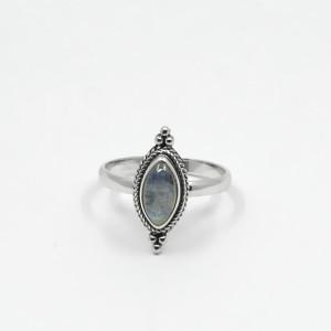 Inel de argint cu piatra lunii Masra