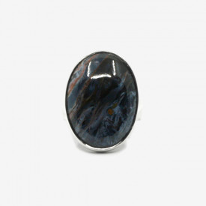 Inel de argint cu pietersit (piatra furtunii) Asabi