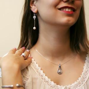 Pandantiv argint cu perlă India