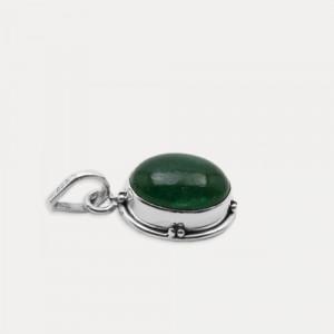 Pandantiv din argint cu jad verde Amana