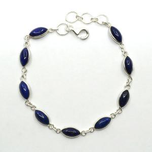 Brățară de argint cu lapis lazuli Ivy