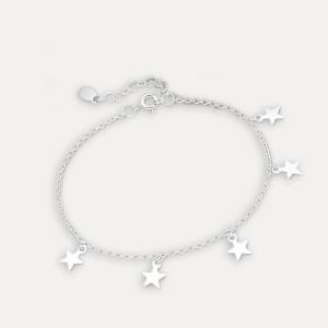 Brățara de argint cu steluțe Inoa