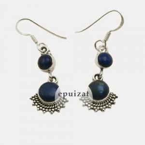 Cercei de argint cu lapis lazuli Ananda