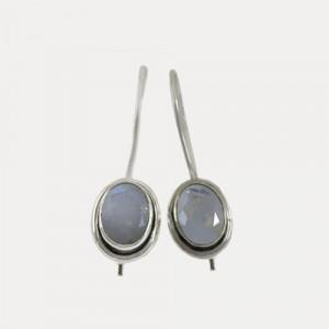 Cercei de argint cu piatra lunii Niradosa