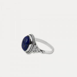 Inel din argint cu lapis lazuli