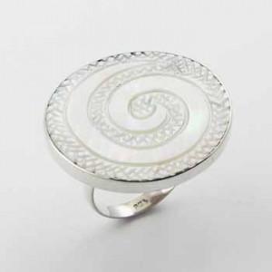 Inel de argint cu sidef Genesis