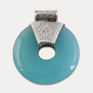 Pandantiv de argint cu calcedonie Prasanti