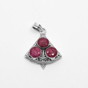 Pandantiv de argint cu rubin Manoka