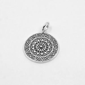 Pandantiv de argint Mandala Sun