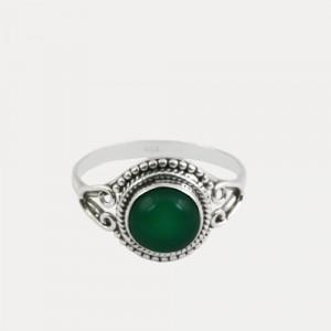 Inel de argint cu onix verde Taaza