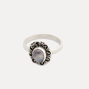 Inel de argint cu piatra lunii Amis