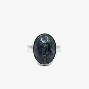 Inel de argint cu pietersit (piatra furtunii) Enur