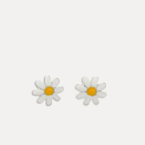 cercei de argint floare margareta model