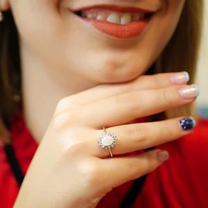 Inel de argint cu opal și tanzanit