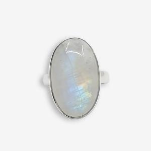 Inel de argint cu piatra lunii Niga