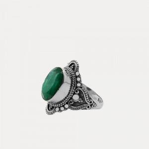 Inel de argint cu smarald Devi