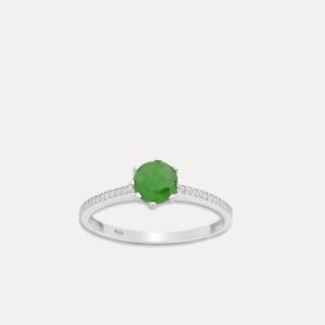 inel de argint cu smarald