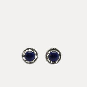 Cercei de argint cu lapis lazuli Maat