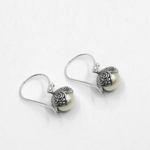 Cercei de argint cu perle Sihiri Bali