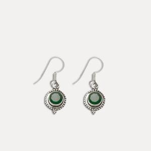 Cercei de argint cu smarald Widi