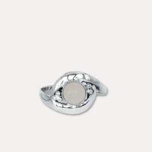 Inel de argint cu cuarț roz Priyatama