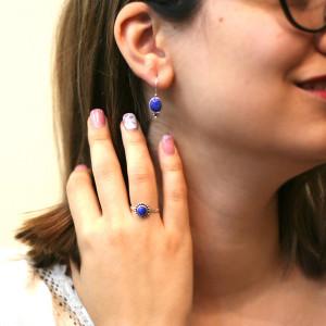Inel argint cu lapis lazuli Bali