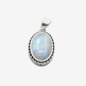 Pandantiv de argint cu piatra lunii Mahib