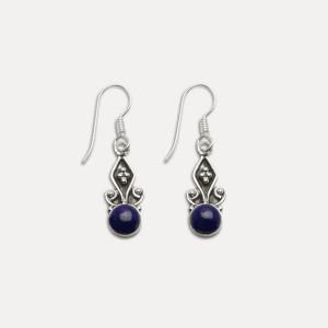 Cercei de argint cu lapis lazuli Sati