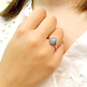 inel argint cu acvamarin