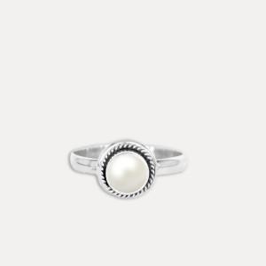 Inel de argint cu perlă Lilu