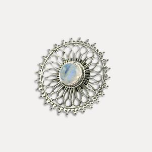 Inel de argint cu piatra lunii Principesa